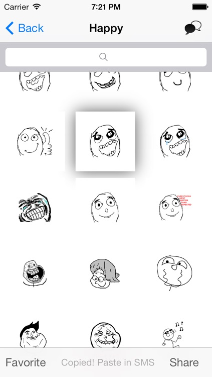 EasyRage - 850+ Popular Rage Faces for SMS