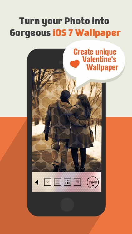 BGMaker Blurred Photo Wallpapers - Custom Backgrounds for iOS 7 (+Valentine's Day  Patterns)
