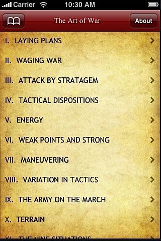 Screenshot of Art Of War By Sun Tzu