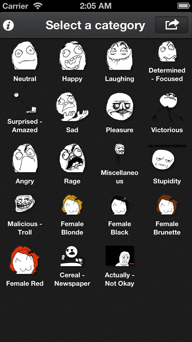 Rage FacesCaptura de pantalla de1