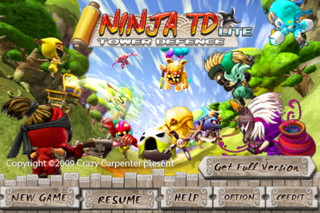 Ninja TD Lite screenshot one