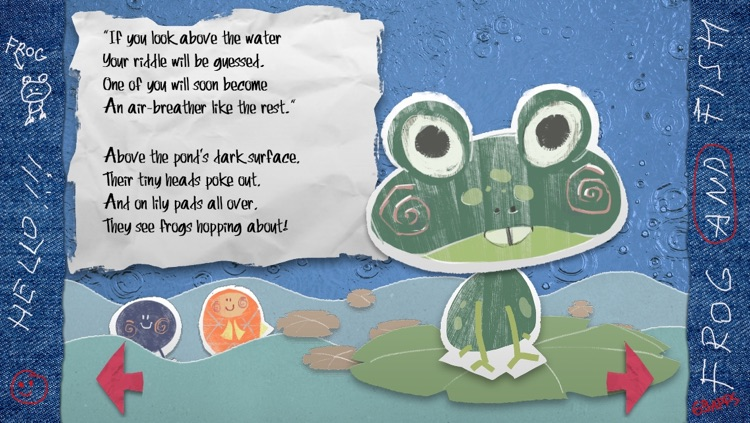 The Frog and Fish storybook - the interactive nursery rhyme for children screenshot-1