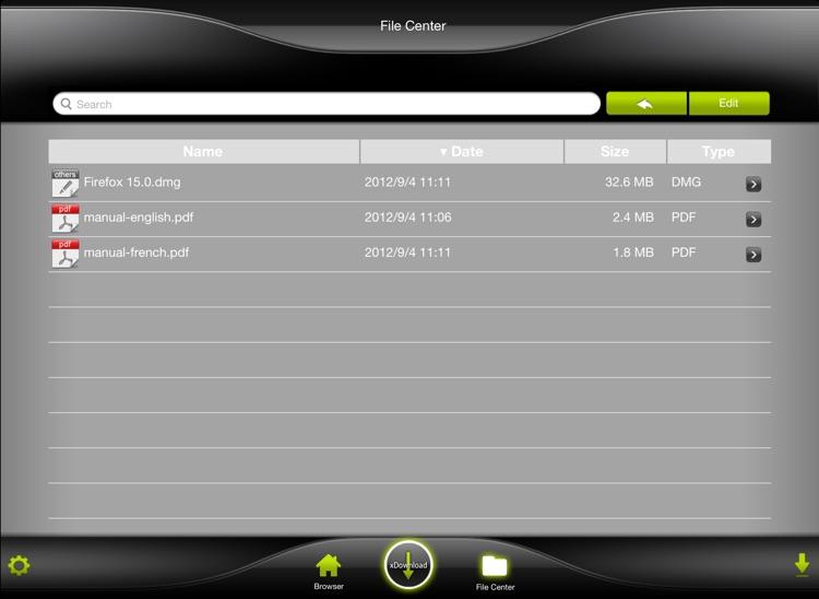 xDownload HD - Super tools for file download screenshot-3
