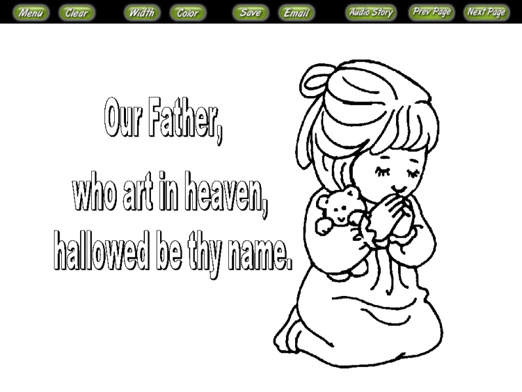 Bible Coloring Stories the Lords Prayer by Little Island Games