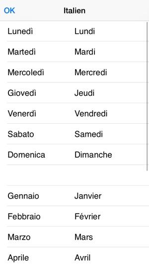 Les noms des mois et des jours de la semaine en 7 langues for Dans 6 mois en anglais