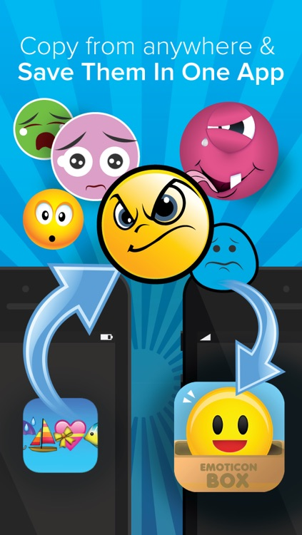 Emoticon and Emoji Box for iPhone -Save Emoticons,emoji,pic and images for Sending Message! 200 FREE emoticons and emojis -