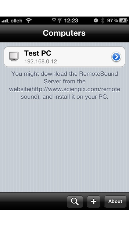 RemoteSound Lite - Using the iOS device as PC Speaker