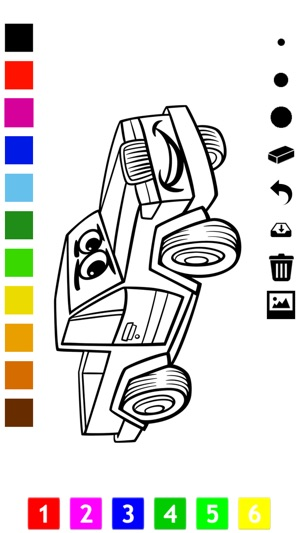 Boyama Kitabı çocuklar Için Araba Bir Yarış Araba Otobüs Traktör