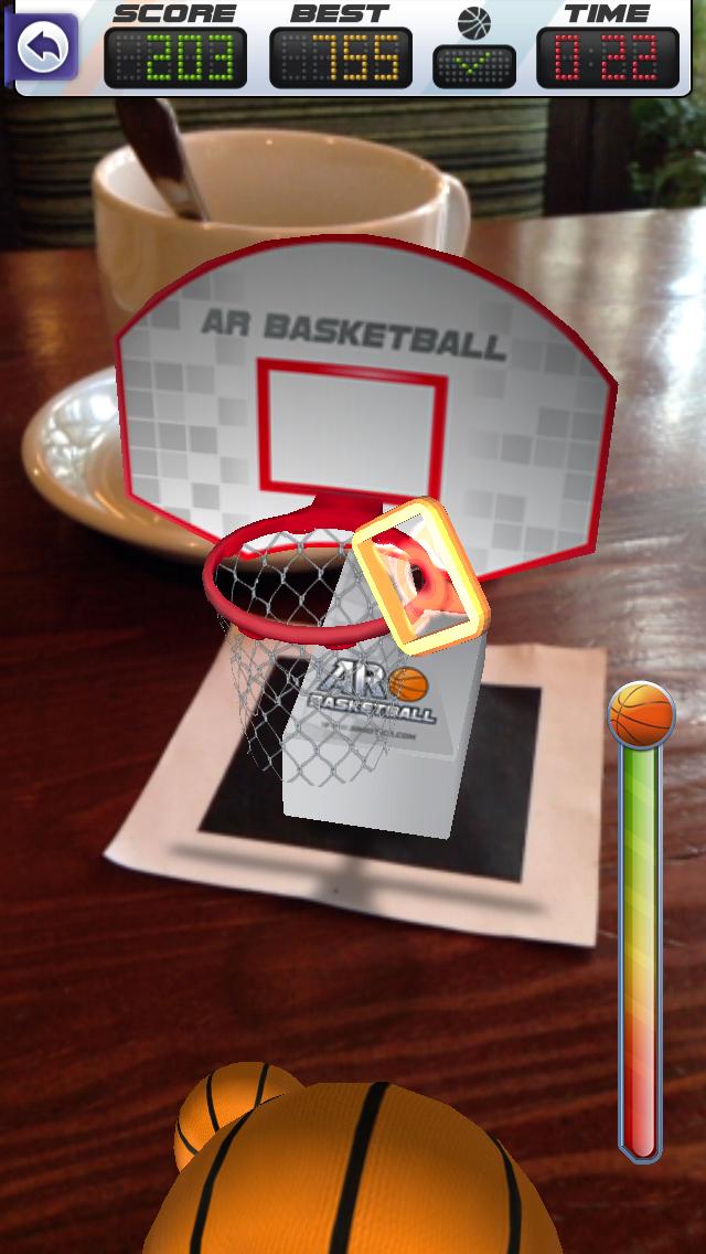 ARBasketball - Augmented Reality Basketball Game Screenshot 4