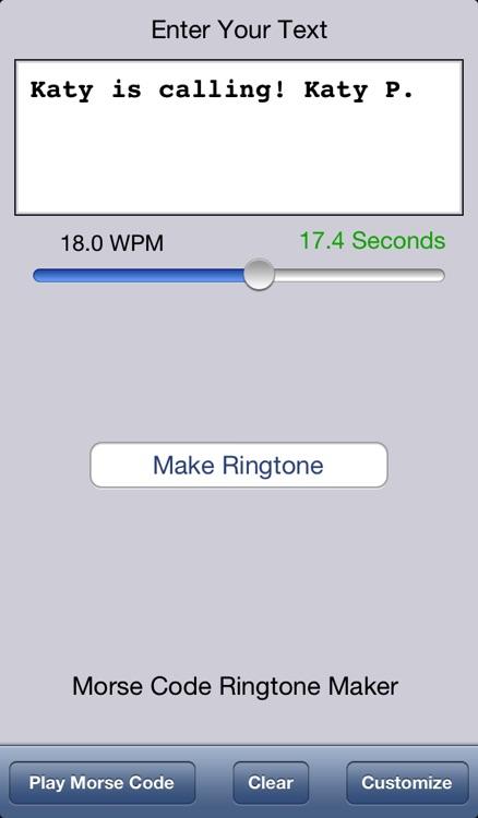 Morse Code Ringtone