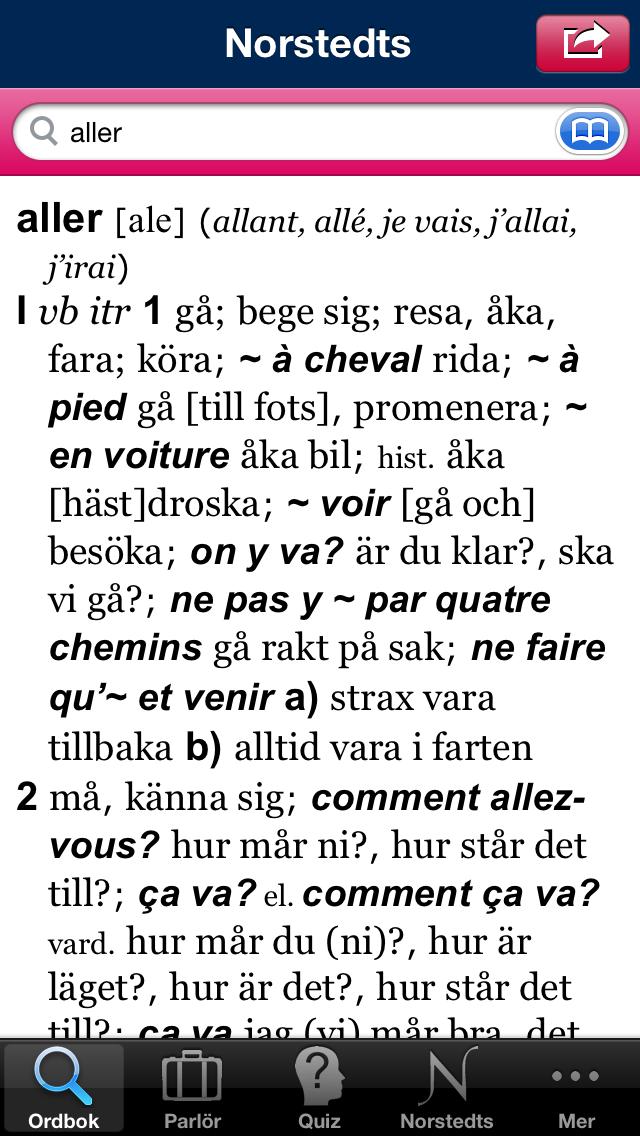 Norstedts stora franska ordbokのおすすめ画像2