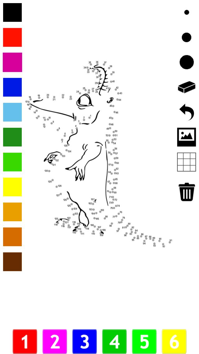 子どもたちのための番号でペイント。塗り絵、 動物、鳥、花、ロケットよりのドット、ゲームや演習を接続します。学ぶためのゲームやパズル、塗料や カウントのおすすめ画像5