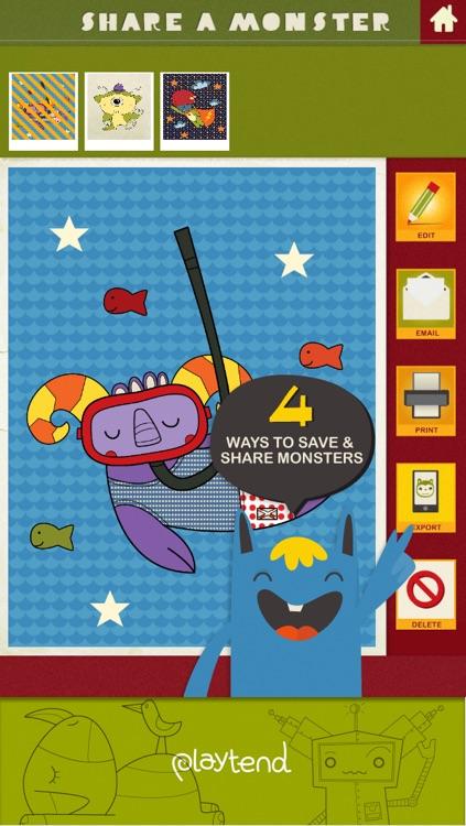 Monster Coloring Book screenshot-4