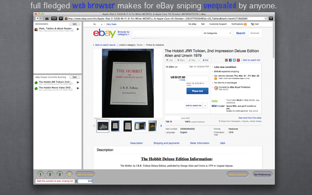 Auction Sniper For Ebay On The Mac App Store