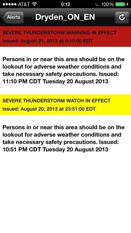 Weather Alert Ontario 2 screenshot-3