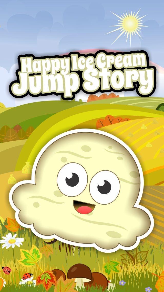 Happy Ice Cream Jump Story - A Vanilla Strawberry Sprinkle