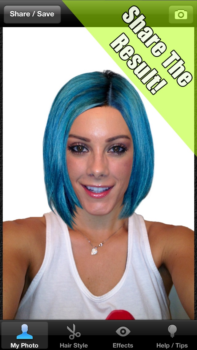 Makeover App - Try on 500 celebrity hairstyles and discover a new look Screenshot on iOS