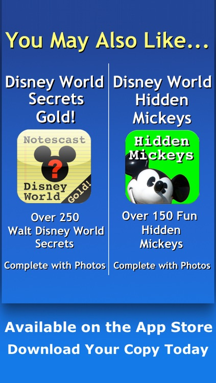 Disneyland Secrets Gold! Notescast screenshot-4
