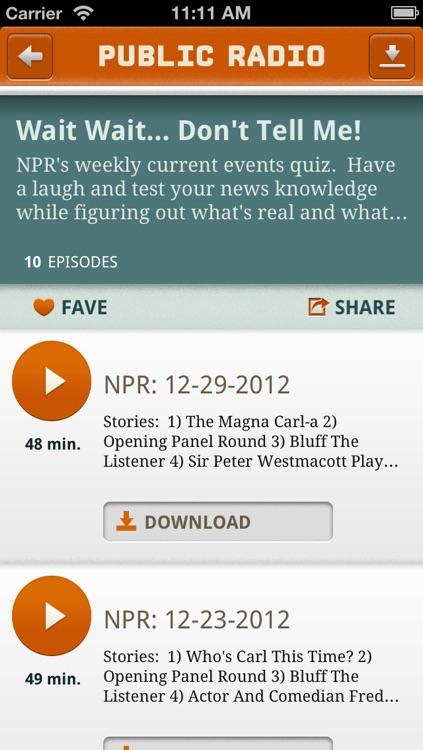 Public Radio Player screenshot-3