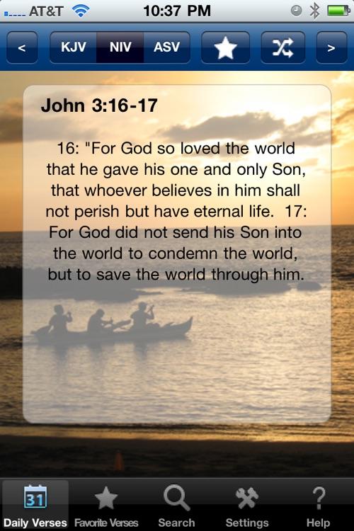Daily Bible Verses (KJV,NIV,ASV)
