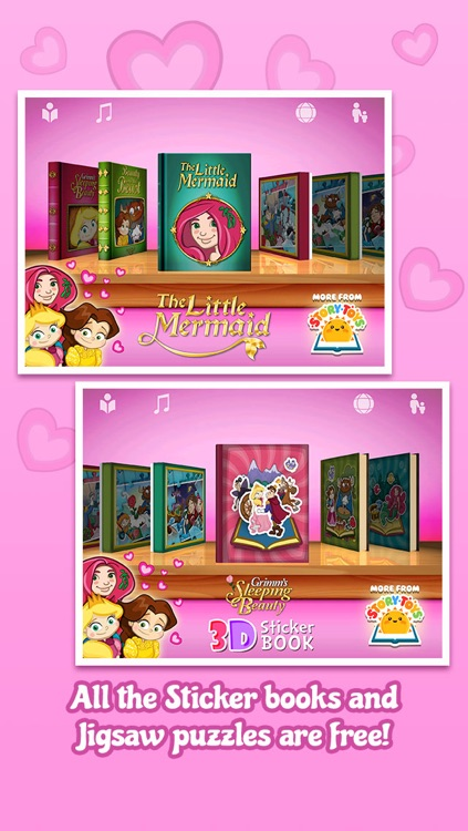 The Valentine's Princess Collection ~ Interactive Books, Jigsaws and Stickers screenshot-1