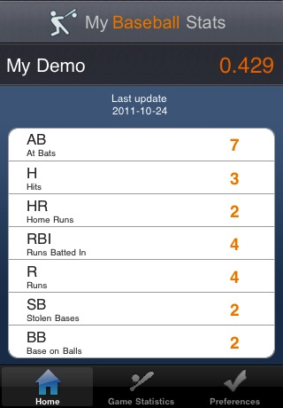 My Baseball Stats screenshot-0