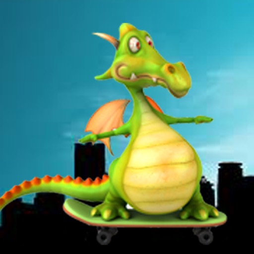 Dragon On a Skateboard!