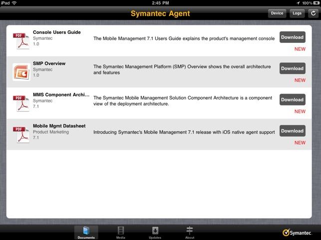 Symantec Mobile Management Agent on the App Store