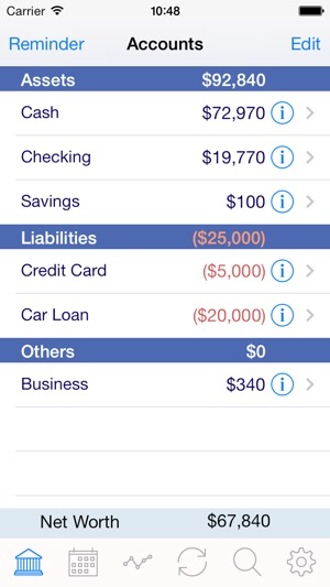 iaccount pro checkbook spending income and accounts tracker on