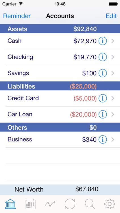iaccount pro checkbook spending income and accounts tracker by