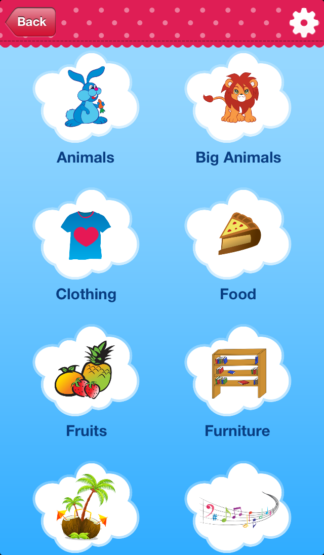 iPlay Italian: Kids Discover the World - children learn to speak a language through play activities: fun quizzes, flash card games, vocabulary letter spelling blocks and alphabet puzzles Screenshot