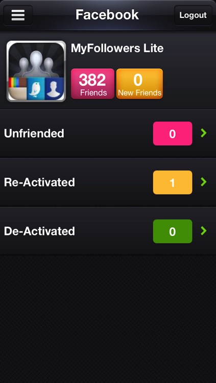 MyFollowers: 3 in 1! for Instagram, Twitter and Facebook screenshot-3