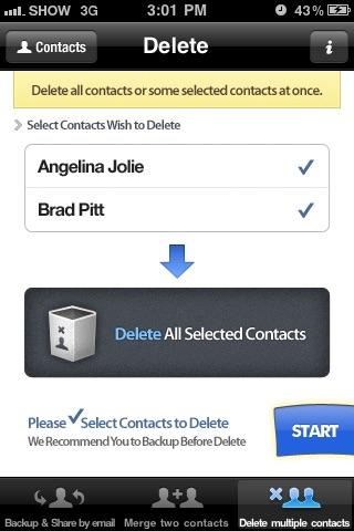 Contacts Backup Management - Contact Manager Screenshot 5