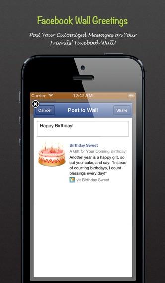 Screenshot 4 For Birthday Sweet Pro