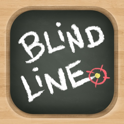 Blind Line - Blackboard Chalk Puzzle Game