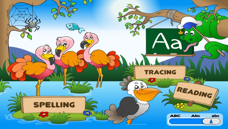 Kindergarten Reading, Tracing and Spelling • Learn to Read First Words School Adventure: Animals A to Z - Phonics, Letters Quiz Recognition and Alphabet Learning Puzzles Games for Curious Kids (K, Toddlers, Preschool Girls and Boys) by Abby Monkey® screenshot-4