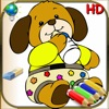 Coloring book for children and babies - 24 Easy Colorings for kids with animals, clowns and more