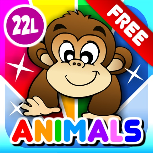 First Words School Adventure: Animals • Early Reading - Spelling, Letters and Alphabet Learning Game for Kids (Toddlers, Preschool and Kindergarten) by Abby Monkey® Lite