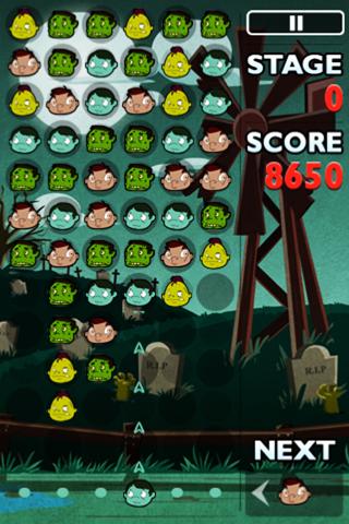 Zombie Blast Free Falling Bubble Shooter Puzzle Fun Game screenshot one