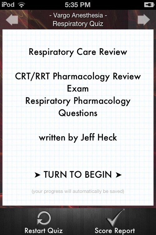 Respiratory Quiz screenshot-0