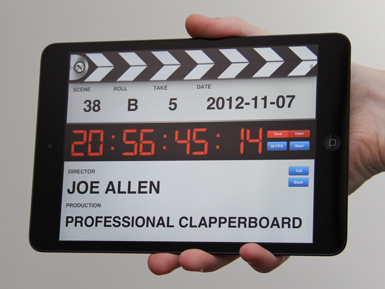 Professional Digital Clapperboard - Timecode Sync and Video Slate screenshot-0