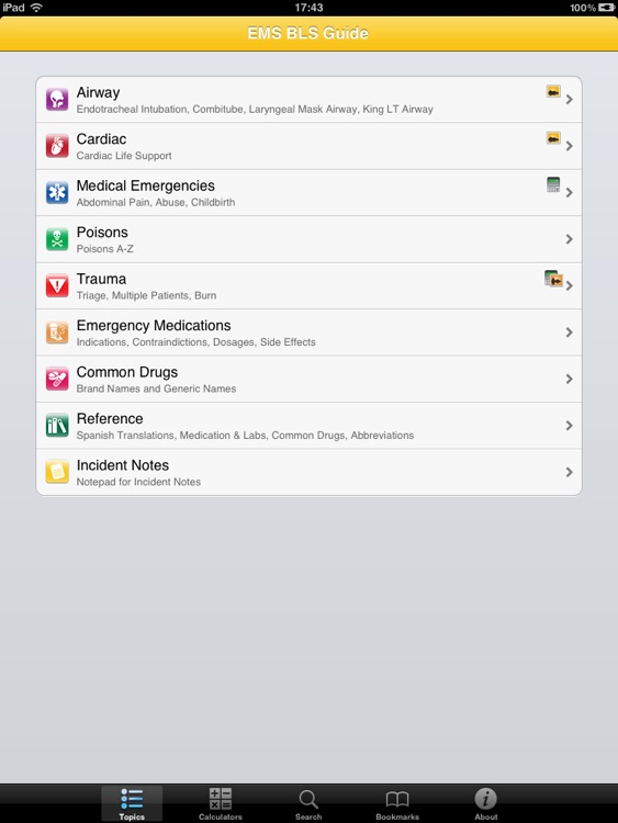 EMS BLS for iPad