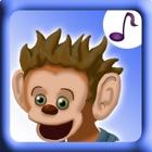 Cinco macacos musicais HD icon