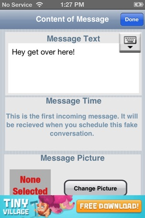 just hook up fake messages