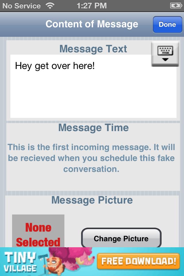 Fake-A-Message™ Free (MMS & SMS!) Screenshot