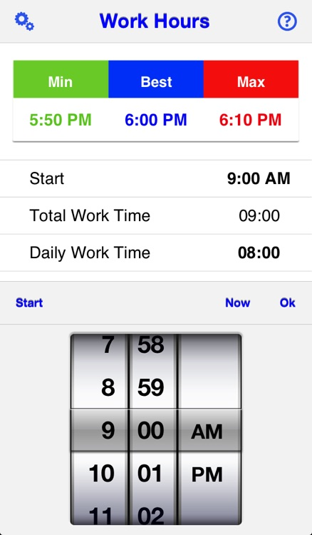 Daily Work Hours