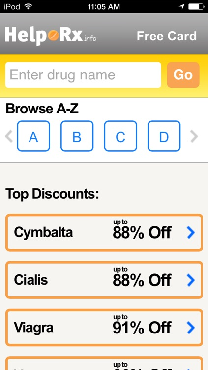 HelpRx Mobile Prescription Discounts