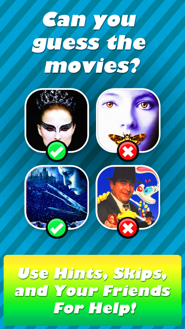 QuizCraze Movies Logos– a word pic color quiz game to guess what's that pop movie icon! screenshot one