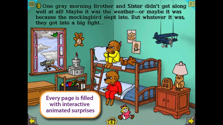 Get In A Fight, Berenstain Bears – Wanderful interactive storybook in English and Spanish screenshot-3
