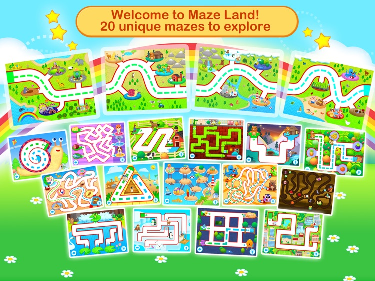 Toddler Maze 123 - Fun learning with Children animated puzzle game screenshot-3